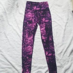 Purple Galaxy High Wasted Workout Legging